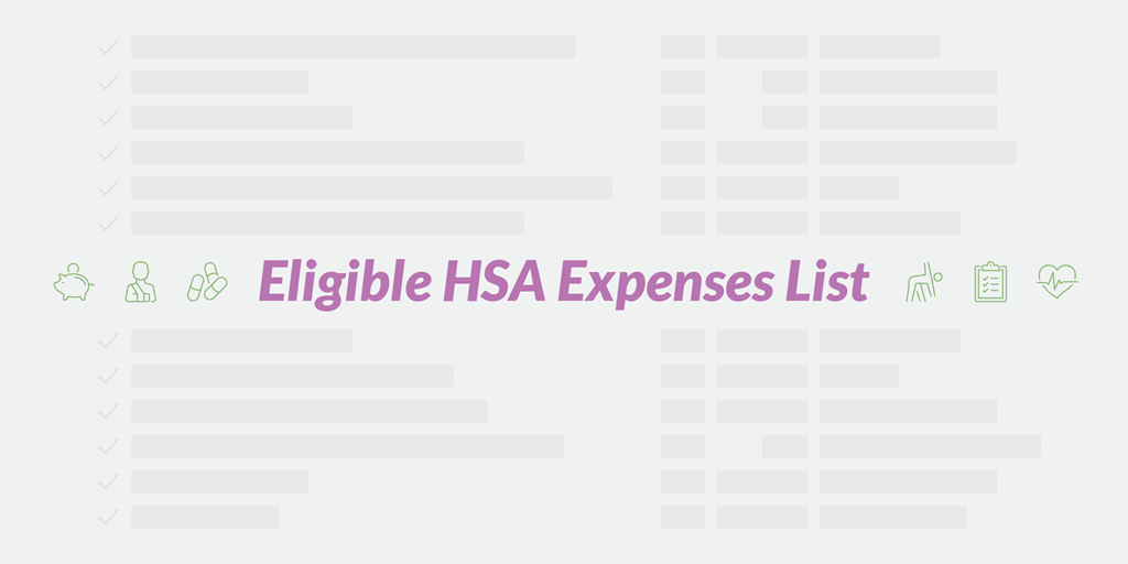 Eligible HSA Expenses List